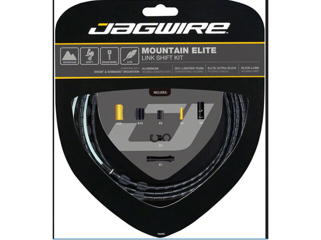Jagwire Mountain Elite Link Shift Cable Set black